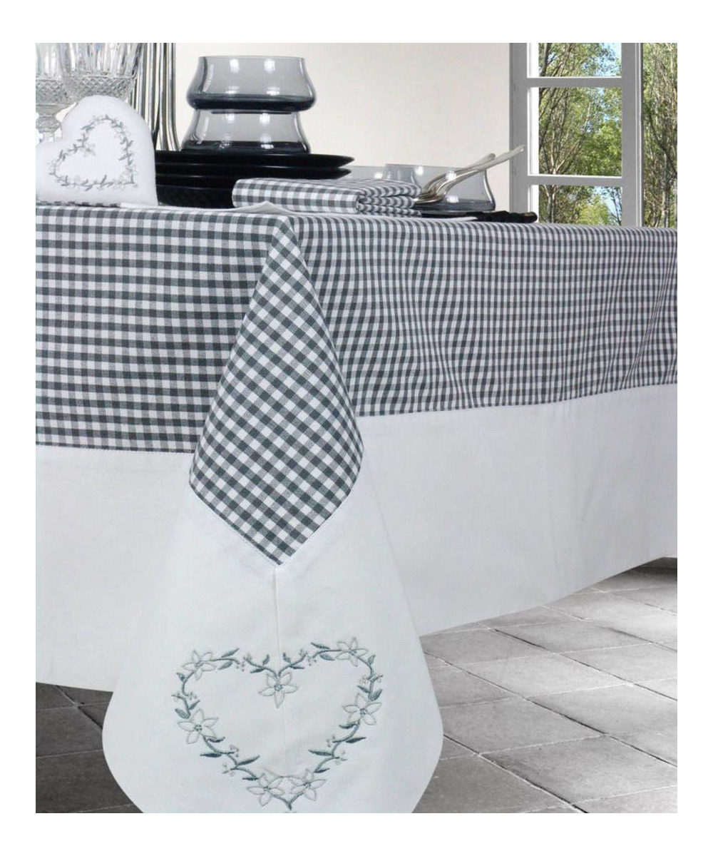 Nappe de table rectangle coton for Nappe de table rectangulaire grande taille