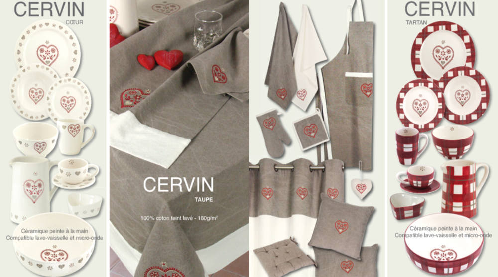 Collection linge de maison montagne Cervin Taupe