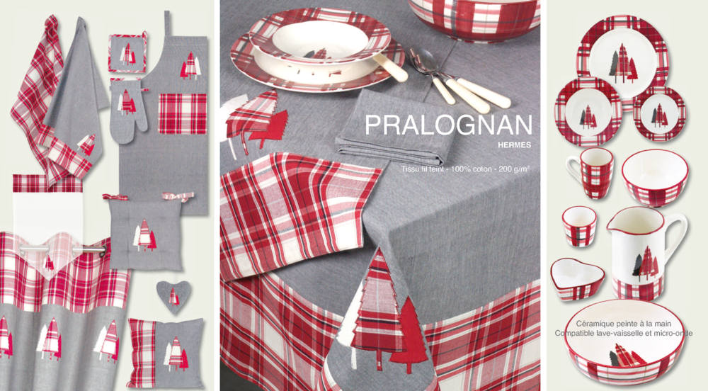 Collection linge de table Pralognan bordeaux
