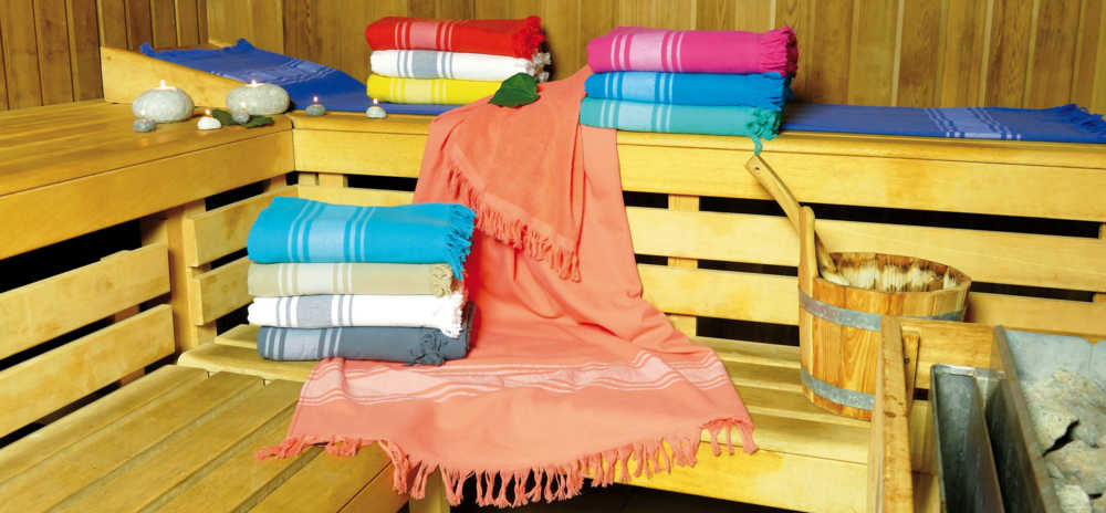 Fouta en toile collection Mykonos