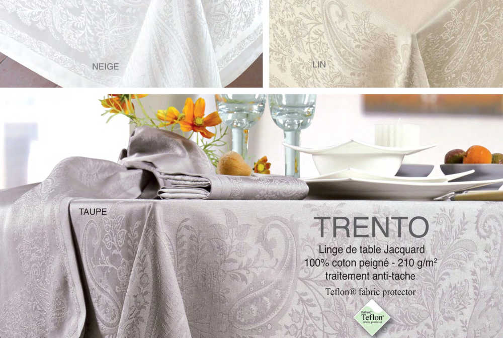 Collection jacquard Français Trento Taupe