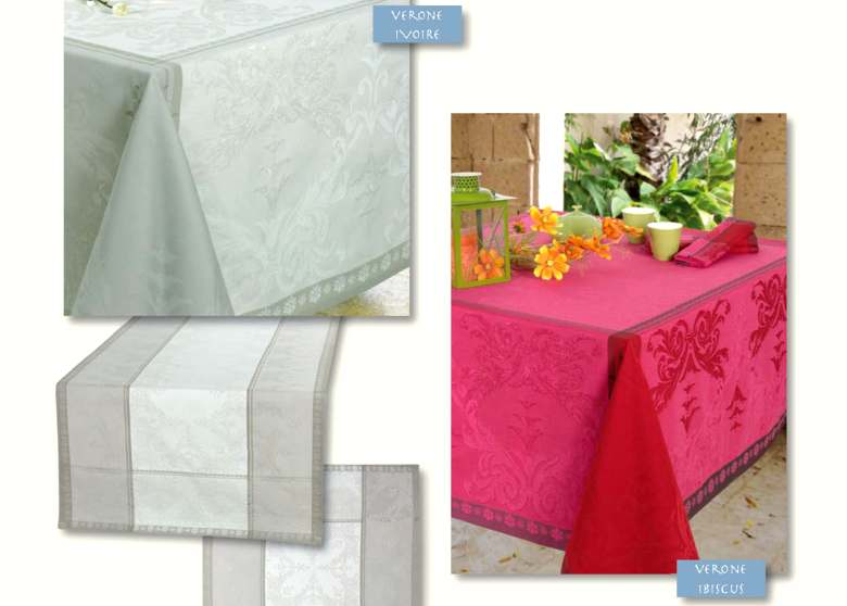 Collection Verone nappe jacquard
